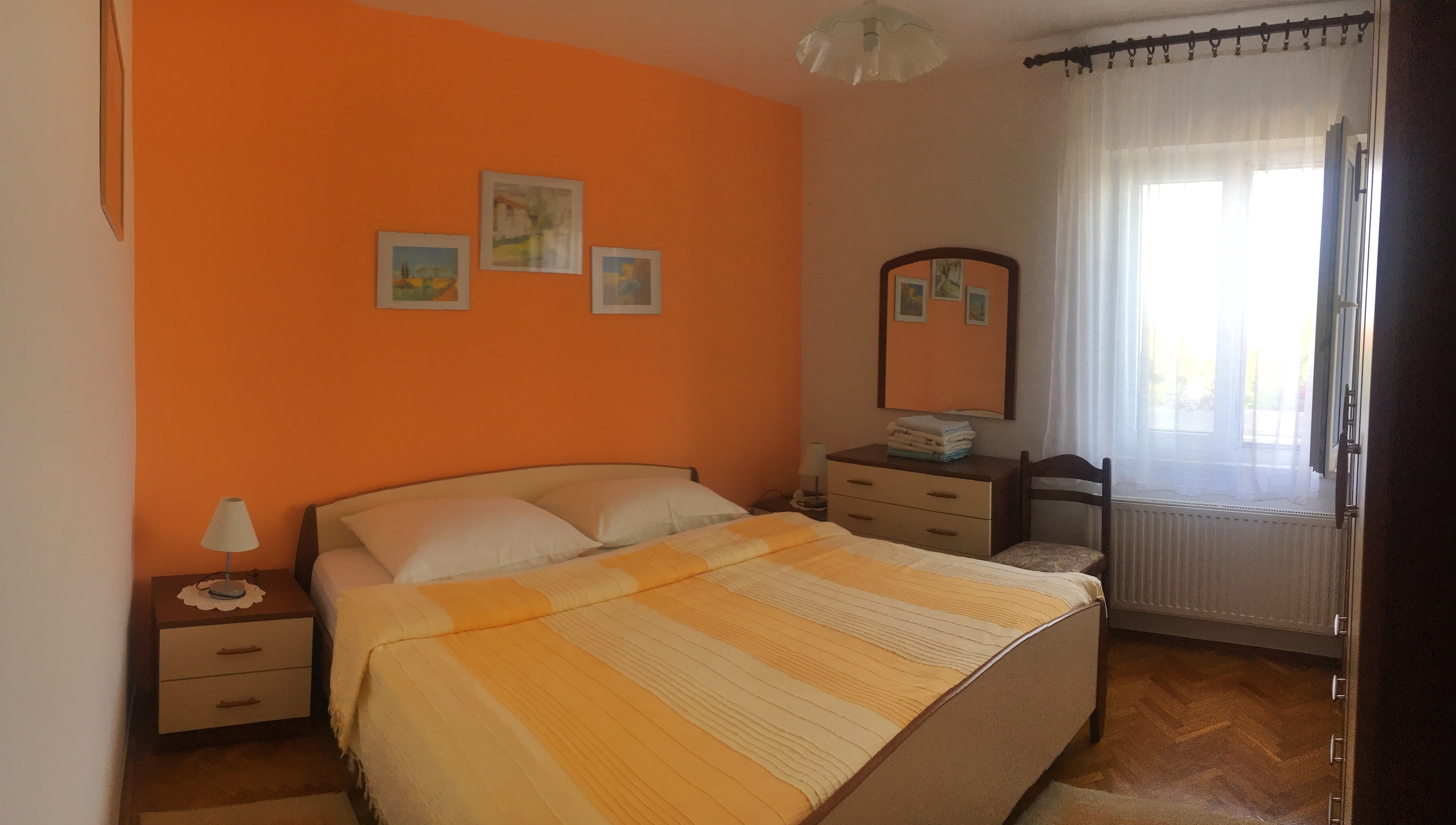 Orange Flower bedroom